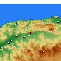 Nearby Forecast Locations - El Abadia - Mapa