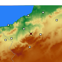 Nearby Forecast Locations - Chetouane - Mapa