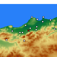 Nearby Forecast Locations - Béni Mered - Mapa
