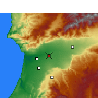 Nearby Forecast Locations - Oulad Teima - Mapa