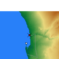 Nearby Forecast Locations - Swakopmund - Mapa