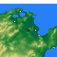 Nearby Forecast Locations - Oued Ellil - Mapa
