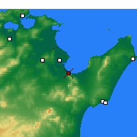 Nearby Forecast Locations - Hammam-Lif - Mapa