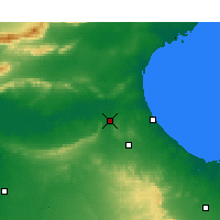 Nearby Forecast Locations - El Hamma - Mapa
