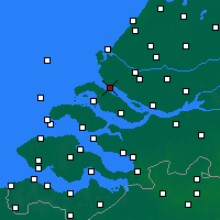 Nearby Forecast Locations - Hellevoetsluis - Mapa