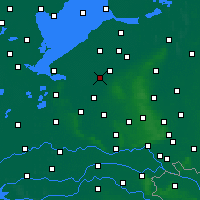 Nearby Forecast Locations - Zeewolde - Mapa