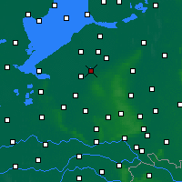 Nearby Forecast Locations - Harderwijk - Mapa