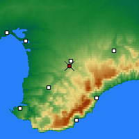 Nearby Forecast Locations - Simferópol - Mapa