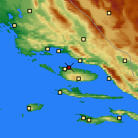 Nearby Forecast Locations - Supetar - Mapa