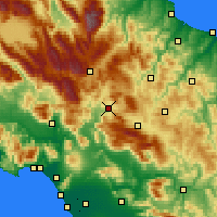Nearby Forecast Locations - Isernia - Mapa