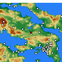 Nearby Forecast Locations - Tebas - Mapa