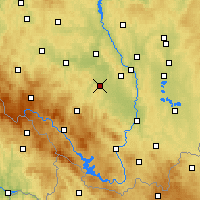 Nearby Forecast Locations - Vodňany - Mapa