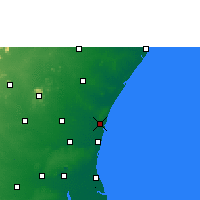 Nearby Forecast Locations - Puducherry - Mapa