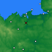 Nearby Forecast Locations - Dinan - Mapa