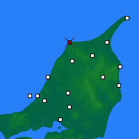 Nearby Forecast Locations - Hirtshals - Mapa