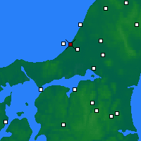 Nearby Forecast Locations - Blokhus - Mapa