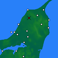 Nearby Forecast Locations - Hjørring - Mapa