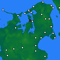 Nearby Forecast Locations - Jægerspris - Mapa