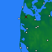Nearby Forecast Locations - Lemvig - Mapa