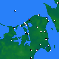 Nearby Forecast Locations - Tisvilde - Mapa