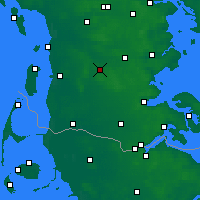 Nearby Forecast Locations - Toftlund Sogn - Mapa