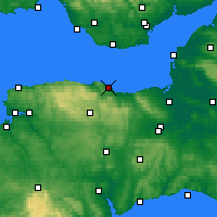 Nearby Forecast Locations - Minehead - Mapa