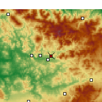 Nearby Forecast Locations - Taounate - Mapa
