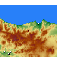 Nearby Forecast Locations - Ghafsai - Mapa