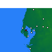 Nearby Forecast Locations - St Petersb.IAP - Mapa
