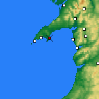 Nearby Forecast Locations - Abersoch - Mapa
