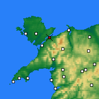 Nearby Forecast Locations - Menai Bridge - Mapa