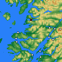 Nearby Forecast Locations - Lago Morar - Mapa