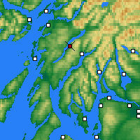 Nearby Forecast Locations - Loch Awe - Mapa