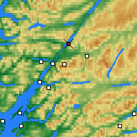 Nearby Forecast Locations - Loch Lochy - Mapa