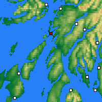 Nearby Forecast Locations - Loch Fyne - Mapa
