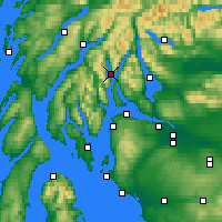 Nearby Forecast Locations - Loch Goil - Mapa