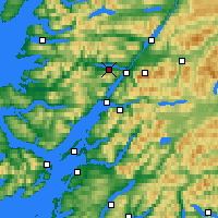 Nearby Forecast Locations - Loch Eil - Mapa