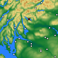 Nearby Forecast Locations - Loch Katrine - Mapa