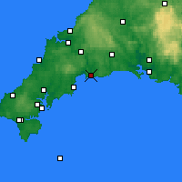 Nearby Forecast Locations - Fowey - Mapa