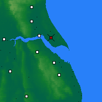 Nearby Forecast Locations - Burstwick - Mapa