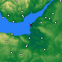 Nearby Forecast Locations - Weston-super-Mare - Mapa