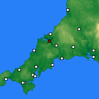 Nearby Forecast Locations - Wadebridge - Mapa