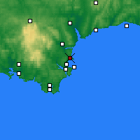 Nearby Forecast Locations - Torquay - Mapa