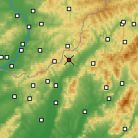 Nearby Forecast Locations - Horná Súča - Mapa