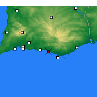 Nearby Forecast Locations - Quarteira - Mapa