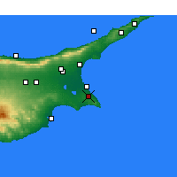 Nearby Forecast Locations - Paralimni - Mapa