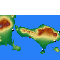 Nearby Forecast Locations - Pekutatan - Mapa
