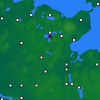 Nearby Forecast Locations - Großer Plöner See - Mapa
