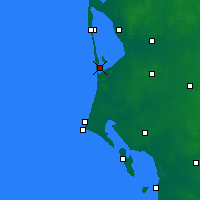 Nearby Forecast Locations - Bork Havn - Mapa