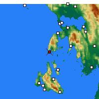 Nearby Forecast Locations - Levkada - Mapa